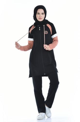 بيجامة الرياضة أسود 9071-01