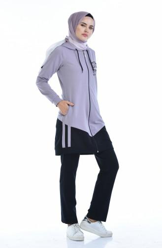 Dark Lilac Sweatsuit 9074-03
