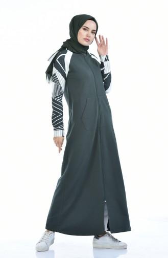 عباءه كاكي 9085-04