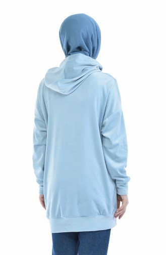 Ice Blue Sweat shirt 0719-01