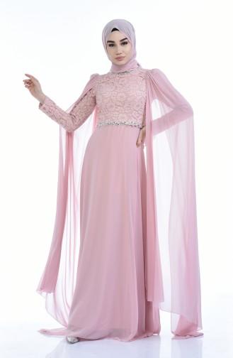 Powder İslamitische Avondjurk 5010-01