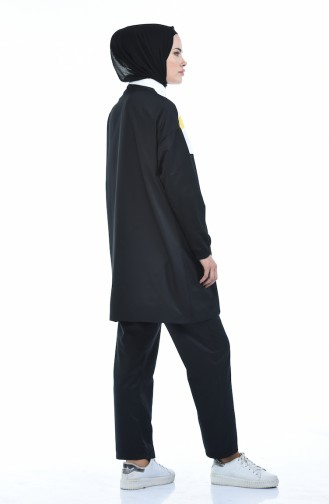 Kolu Lastikli Eşofman Takım 9080-03 Siyah