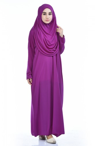 Sefamerve Robe de prière Pratique a Sac 0900-12 Pourpre 0900-12