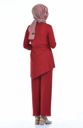 طقم أحمر كلاريت 3084-05