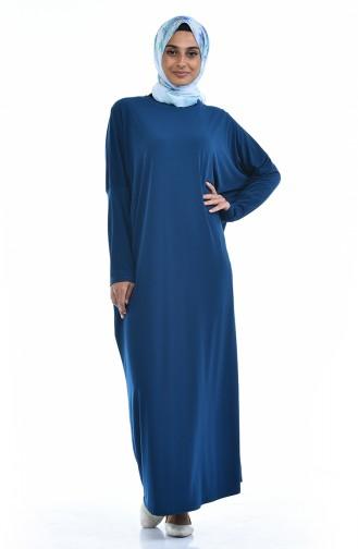 Sandy Yarasa Kol Elbise 8813-08 Petrol