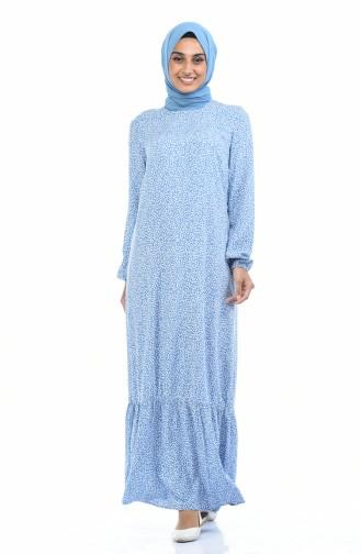 Saxon blue İslamitische Jurk 1017-01