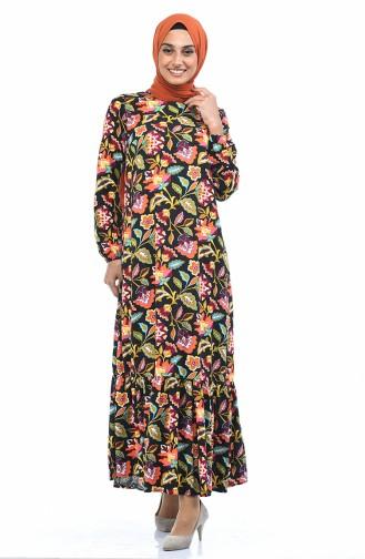 Schwarz Hijap Kleider 1019-01
