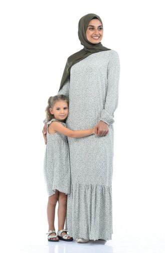 Khaki İslamitische Jurk 1020-01