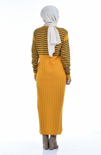 ملابس مُحاكة أصفر خردل 8028-08