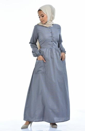 Navy Blue Dress 1284-05