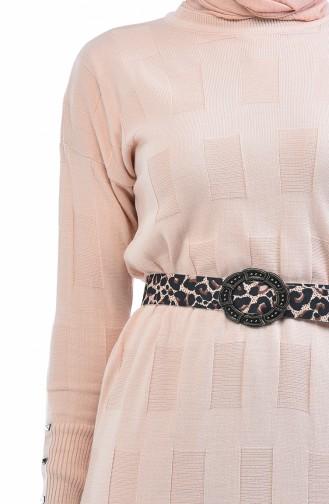 Robe Tricot Manches Chauve Souris 8010-02 Poudre 8010-02