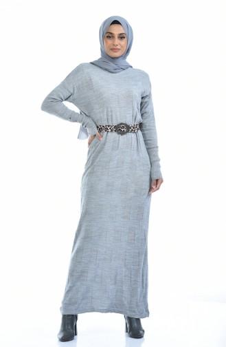 Trikot Fledermausarmel Kleid  8010-06 Grau 8010-06