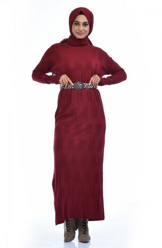 Robe Tricot Manches Chauve Souris 8010-08 Bordeaux 8010-08