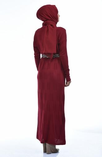 ملابس مُحاكة أحمر كلاريت 8010-08