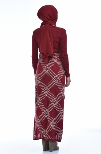 Claret red Tricot 8027-04
