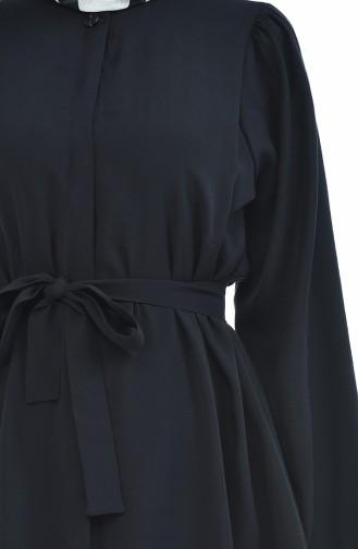 Aerobin Kuşaklı Tunik Pantolon İkili Takım 0218B-01 Siyah