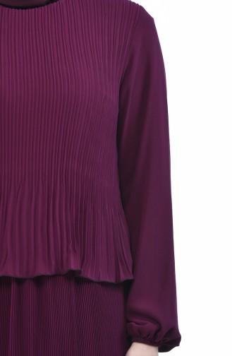 Robe Plissée 16491-01 Plum 16491-01