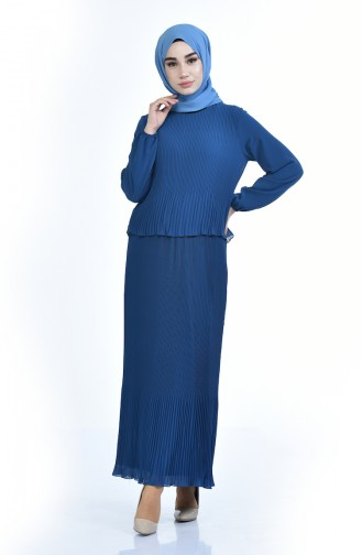 Plissee Kleid 16491-05 Indigo 16491-05