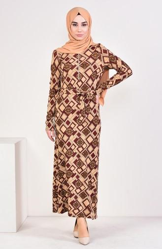 فستان بُني 9193-03