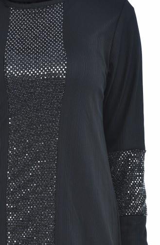 Pullu Tunik 5421-05 Siyah
