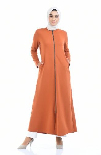 Abaya mit Reissverschluss 1935-03 Ziegelrot 1935-03