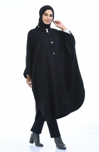 Poncho Hivernal 7001A-01 Noir 7001A-01