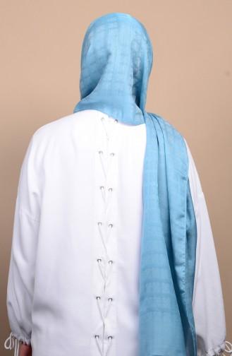 Karaca Jakarlı Capri Şal 90588-06 Açık Mavi