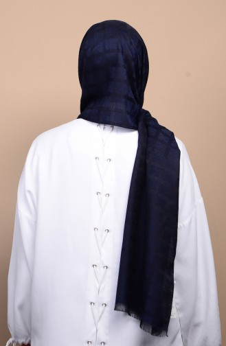 Karaca Jakarlı Capri Şal 90588-12 Lacivert 90588-12