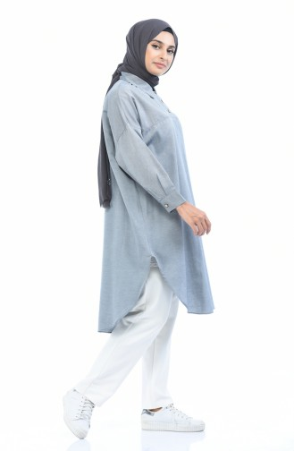 Yarasa Kol Tunik 5014-01 Gri 5014-01