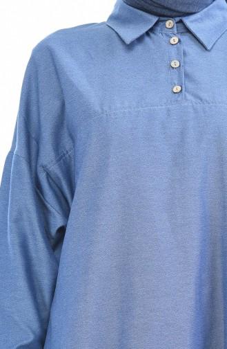 Tunique Manches Chauve Souris 5014-04 Bleu 5014-04