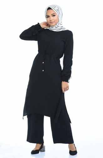 Aerobin Kumaş Tunik Pantolon İkili Takım 2002-05 Siyah 2002-05