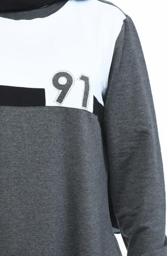 Büyük Beden Spor Elbise 10009-04 Antrasit 10009-04