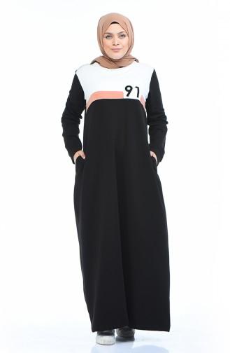 Black İslamitische Jurk 10009-05