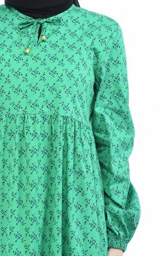فستان أخضر حشيشي 1285-01