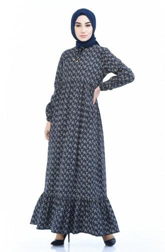Schwarz Hijap Kleider 1285-08