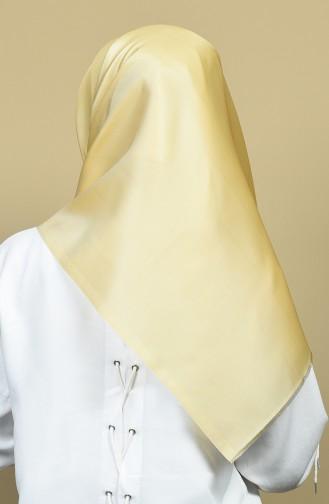 وشاح تافتا أصفر فاتح 13097-10
