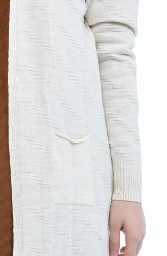Strickjacke mit Tasche aus Acryl   2172-05 Beige 2172-05