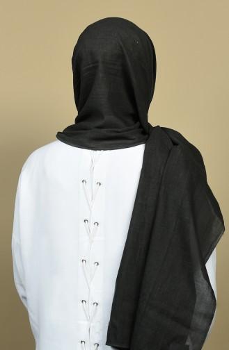 شال قطني طبيعي أسود 3001OT-08