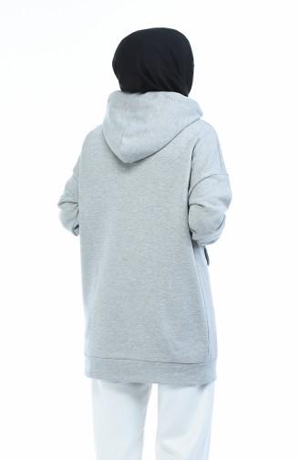 Cepli Sweatshirt 0722-02 Açık Gri 0722-02