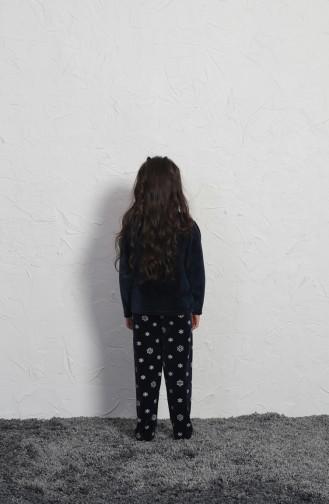 ملابس نوم للأطفال أزرق كحلي 705003-01