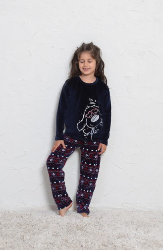 ملابس نوم للأطفال أزرق كحلي 705006-01