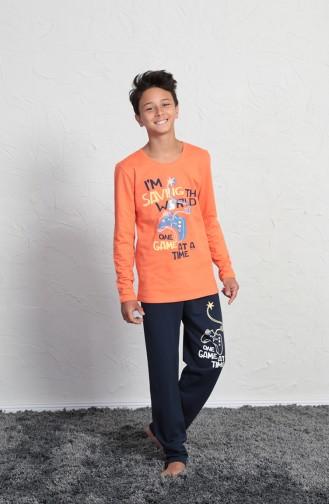 ملابس نوم للأطفال برتقالي 705010-02