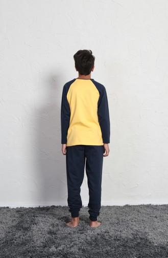 ملابس نوم للأطفال أصفر 705016-02
