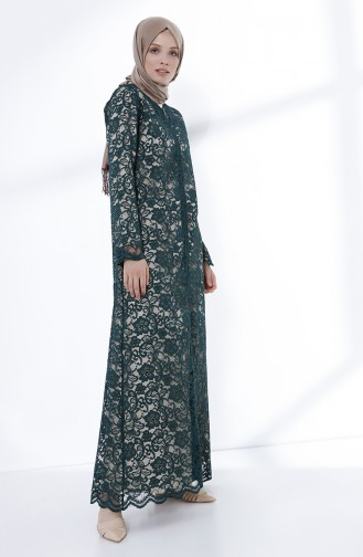 Smaragdgrün Abayas 9029-03