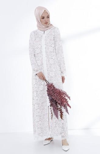 White Abaya 9029-07