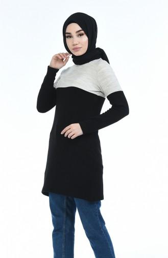 Triko Kazak 10655-01 Bej Siyah 10655-01