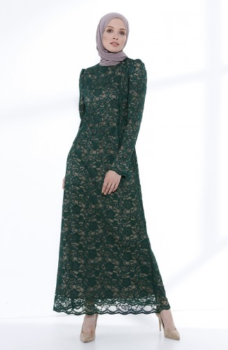Emerald Islamic Clothing Evening Dress 9027A-03