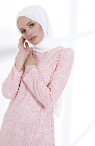 Powder İslamitische Avondjurk 9027A-05