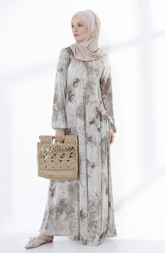 Khaki İslamitische Jurk 5030-04