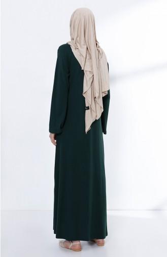 فستان أخضر زمردي 5044-10